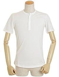 ジレッリブルーニ GIRELLI BRUNI ヘンリーネック Tシャツ 半袖 G686CB ネイビー/ホワイト