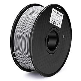 フィラメントの直径は1.75mm、寸法精度は+/- 0.03mmほとんどの3Dプリンタにしようできます。 PLAまたはポリ乳酸は、加熱されたプリントベッドを使用する必要がない一般的に使用される熱可塑性材料です。溶融温度が低く、反りがないため、PLAフィラメントの色が透き通り、そしてディスプレイや家庭用プリントには適な選択です。 印刷されたものは、光沢や質感が良い、反りが少ない、使いやすいなど多数な特徴があります。