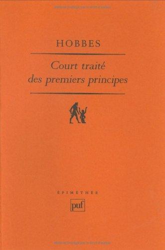 """Court traité des premiers principes : Le """"Short Tract on First Principles"""" de 1630-1631"""