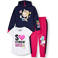 JoJo Siwa Unicorn Graphic Hoodie, Top and Legging, 3-Piece Athleisure Outfit Set - Girls 4-16