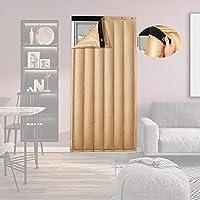 ドアカーテン GGYMEI コットン カーテン防音と防風の家庭用パーティションカーテン防塵断熱PU素材、カスタマイズ可能 (Color : Gold, Size : 100x230cm)