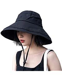 UVカット帽子 つば広 小顔効果 マジックテープ調節 あご紐 風で飛ばない 紫外線カット レディースハット 大きいサイズ 折りたたみ 携帯便利 アウトドア 自転車 春夏 日焼け防止 スカラハット