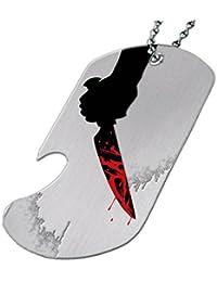 Blood on aナイフ – ボトルOpener犬タグネックレス