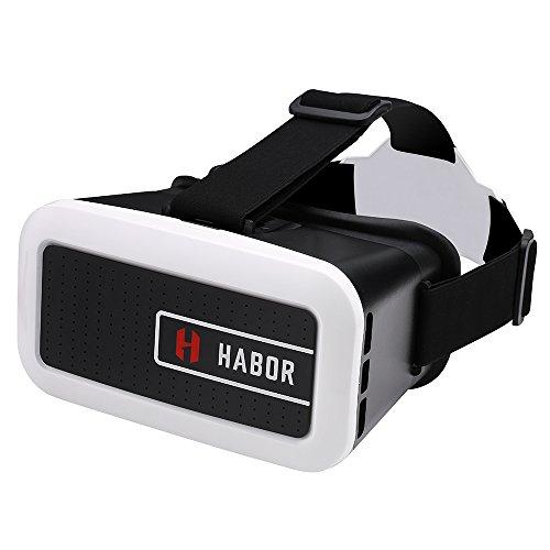 Habor 3D VRヘッドセット VRメガネ 超3D映像効果 バーチャルリアリティ体験 ヘッドバンド付き 4.0 ~6.0インチのiPhone/Androidスマートフォンに対応 3Dビデオ/映画/ゲーム用(ブラック)