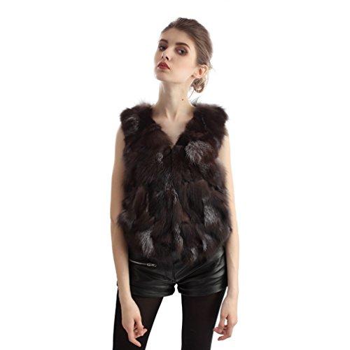 [해외]OLLEBOBO (오레보보) 가을 겨울 여성 패션 따뜻함 여우 모피 모피 조끼 짧은 조끼/OLLEBOBO (Oreborbo) Fall Winter Ladies Fashion Warmth Fox Fur Fur Vest Short waistcoat