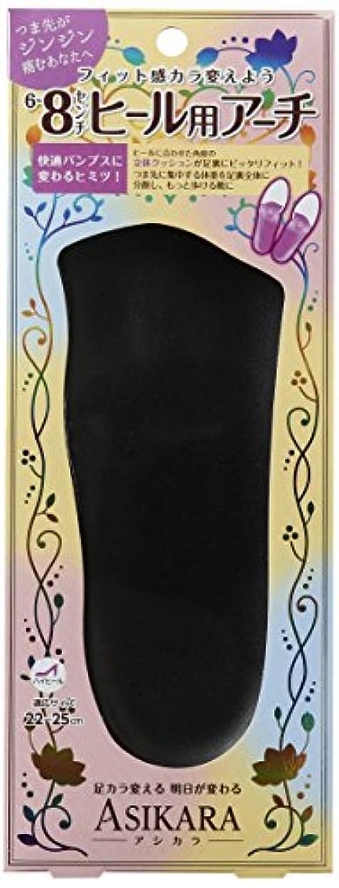 病気の粉砕する第四ASIKARA  6~8cm ヒール用アーチ ブラック