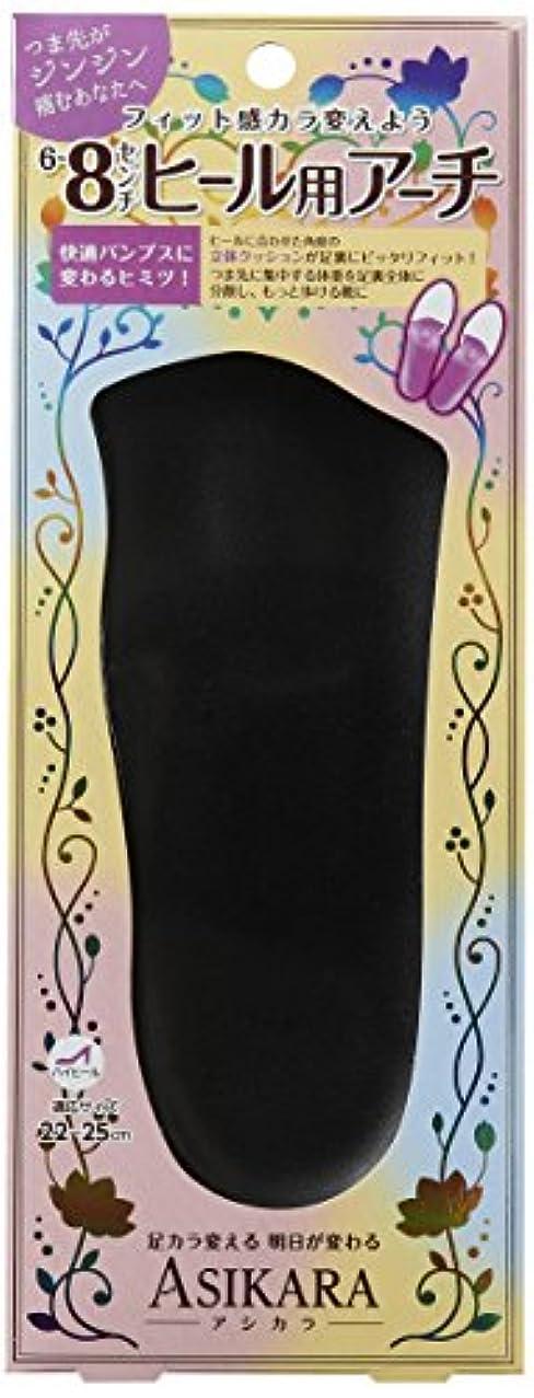 寄り添う因子抑制ASIKARA  6~8cm ヒール用アーチ ブラック