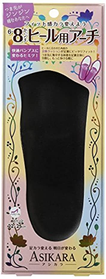 サドル小売ピースASIKARA  6~8cm ヒール用アーチ ブラック