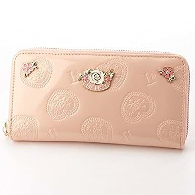 リズリサ(バッグ&ウォレット)(LIZ LISA Bag&Wallet) エナメル調ローズラウンド長財布【ピンク/**】