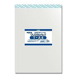 ヘイコー 透明 OPP袋 クリスタルパック テープ付 A4 100枚 T-A4