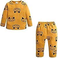 LUKEEXIN Baby Girls Sleepwear 100% Cotton Pajamas Kids Fashion Cartoon Pajamas Long Sleeve Baby Pyjamas