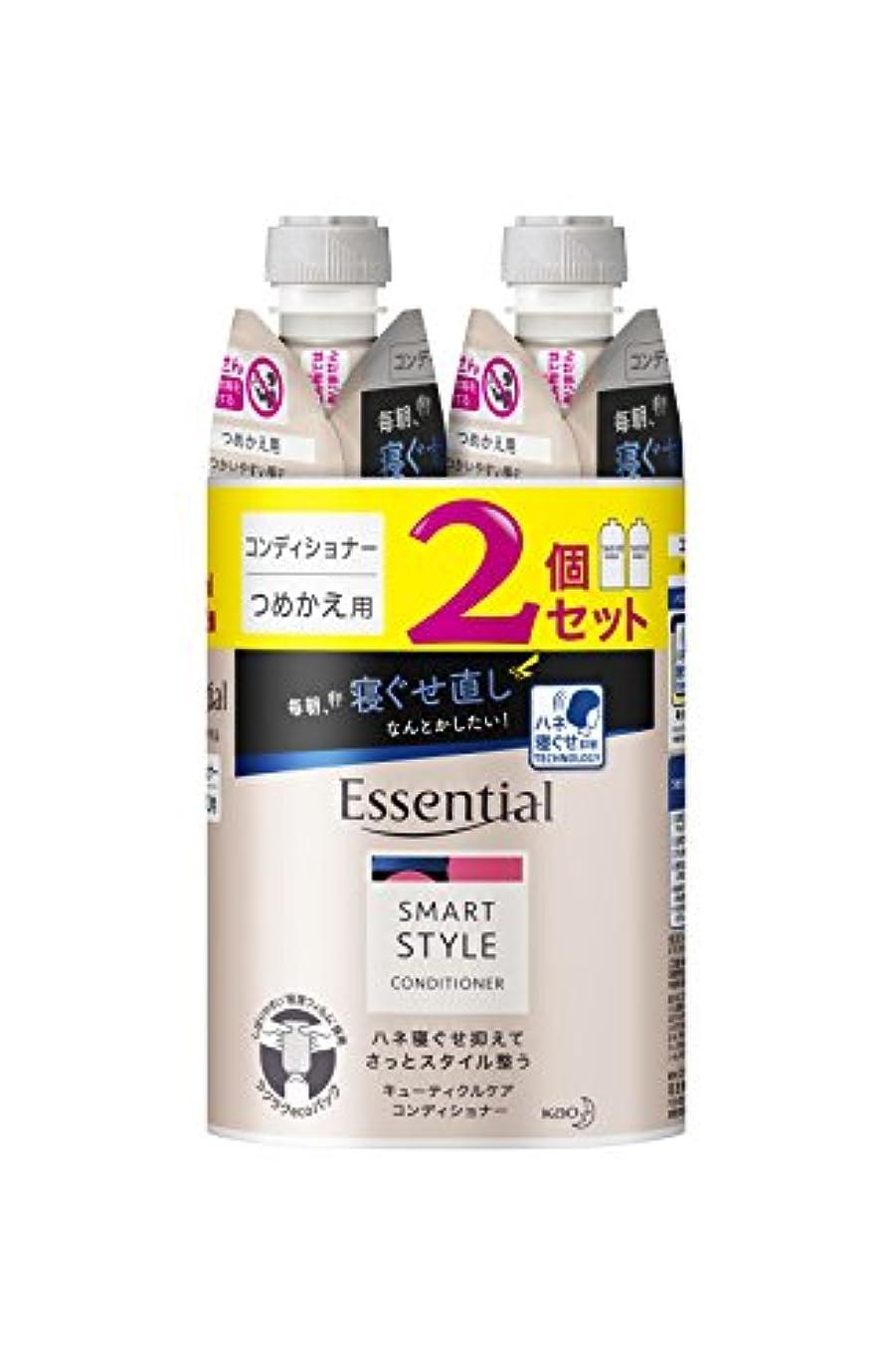セメント樹皮明日【まとめ買い】 エッセンシャル スマートスタイル コンディショナー つめかえ用 340ml×2個