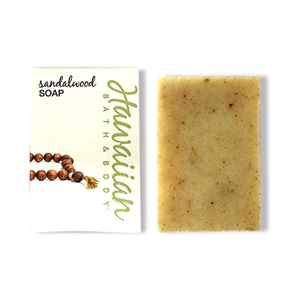 日付付き引退する食用ハワイアンバス&ボディ サンダルウッドソープ ( Sandalwood Soap )