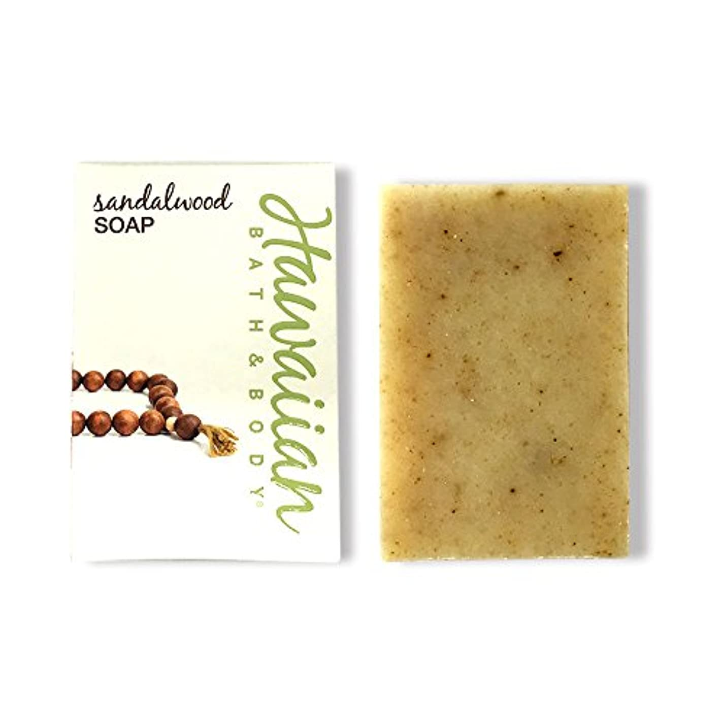 モニター段落置くためにパックハワイアンバス&ボディ サンダルウッドソープ ( Sandalwood Soap )