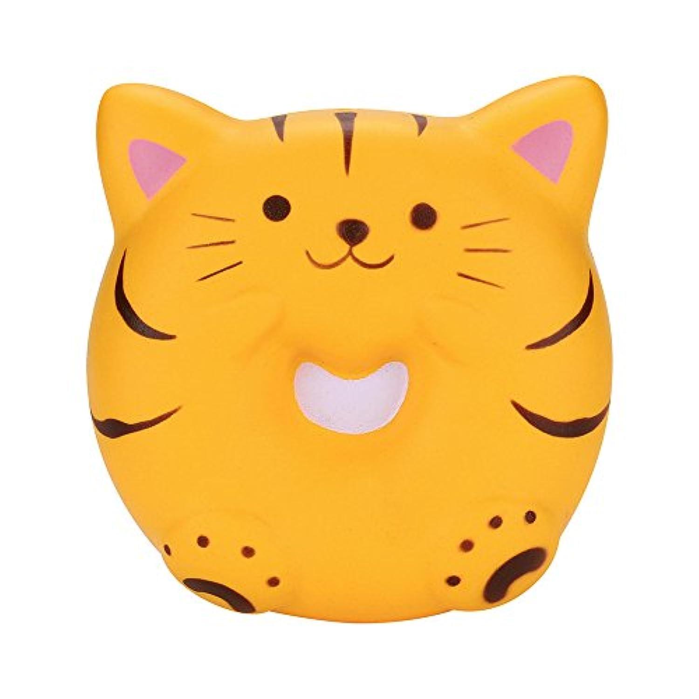 chanyuhui Slow Rising squishisジャンボKawaiiイエローBread Cat香りつきSquishy応力Reliever FunシミュレーションKid Toyペンダント 10x10x4cm イエロー 05