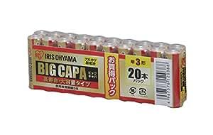 アイリスオーヤマ アルカリ乾電池 BIG CAPA 長寿命・大容量タイプ 単3形 20本パック LR6IRB-20S