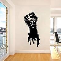 Lixiaoer ビニール壁デカール拳手強度電源ウォールステッカージムスポーツの装飾拳手スタイルウォールアートポスター強度ステッカー26×57センチ