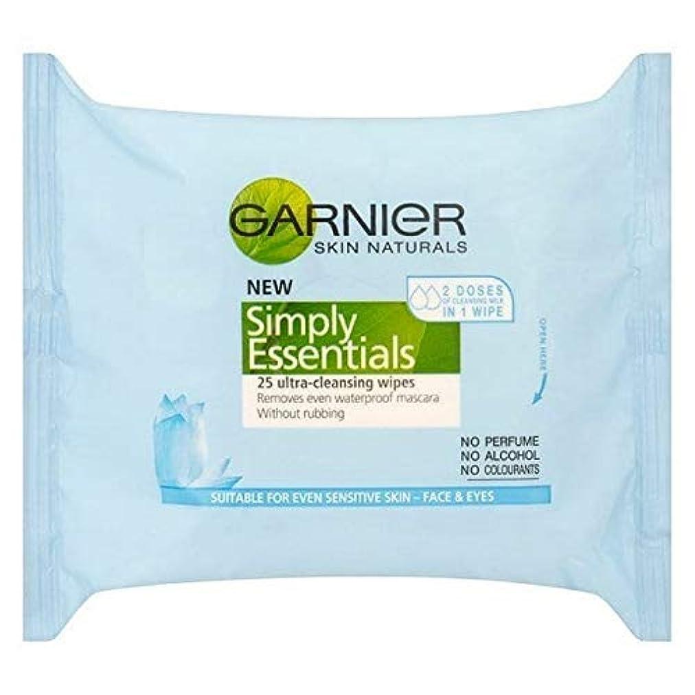 靴検閲接続された[Garnier ] ガルニエ肌ナチュラルビタミン濃縮クレンジングは、25ワイプ - Garnier Skin Naturals Vitamin Enriched Cleansing Wipes 25 [並行輸入品]
