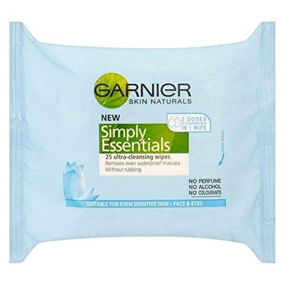 自殺素人不快な[Garnier ] ガルニエ肌ナチュラルビタミン濃縮クレンジングは、25ワイプ - Garnier Skin Naturals Vitamin Enriched Cleansing Wipes 25 [並行輸入品]