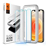 "Spigen, 2 Pack, Screen Protector for iPhone 12 / iPhone 12 Pro (6.1""), Glas.tR AlignMaster, Auto-Align Technology, Case Friendly, iPhone 12/12 Pro Compatible Tempered Glass"