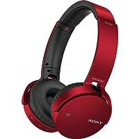 SonyプレミアムBluetoothワイヤレス軽量Extra Bassステレオヘッドフォン(レッド)