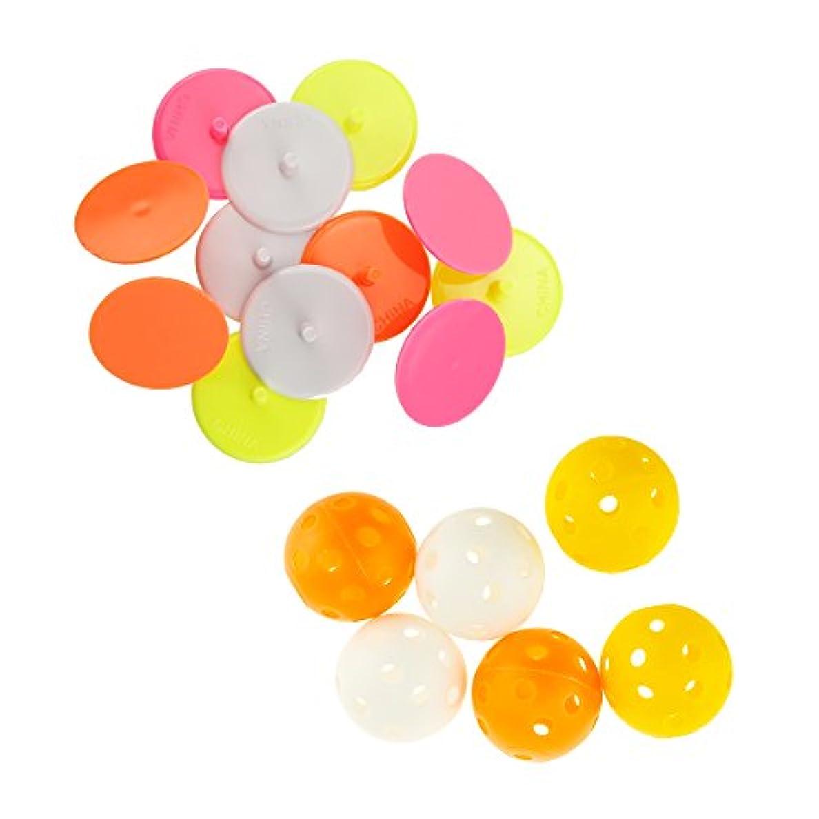 振動するフリッパー半径iztor 100個プラスチックゴルフボール位置マーカーマークマルチカラー
