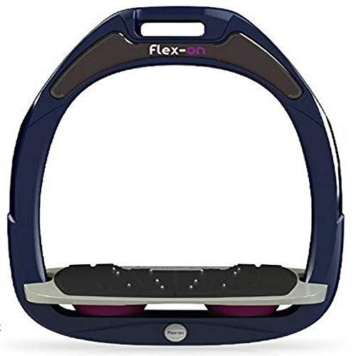 【Amazon.co.jp 限定】フレクソン(Flex-On) 鐙 ガンマセーフオン GAMME SAFE-ON Mixed ultra-grip フレームカラー: ネイビー フットベッドカラー: グレー エラストマー: プラム 89162
