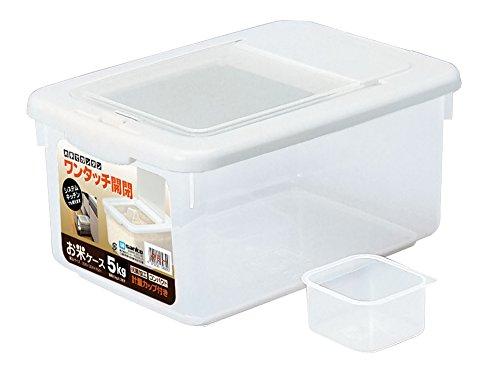 サンコープラスチック 日本製 米びつ お米ケース 5Kgタイプ 計量カップ付き ホワイト...