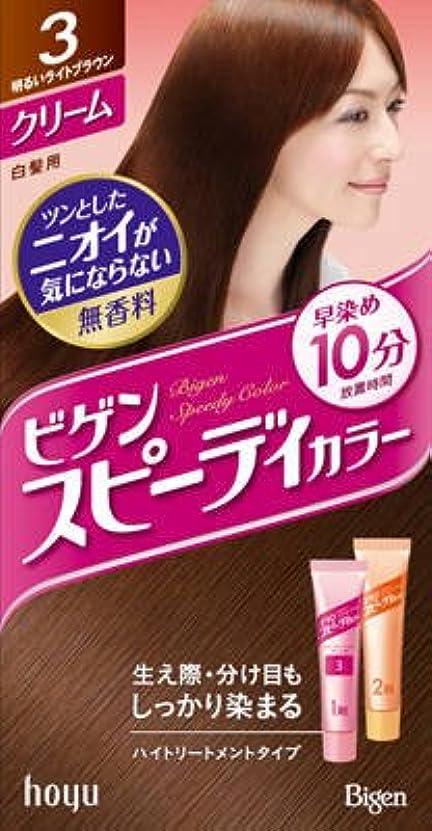 企業スペシャリストブラシホーユー ビゲン スピーディカラークリーム 3(明るいライトブラウン)×27点セット (4987205041136)
