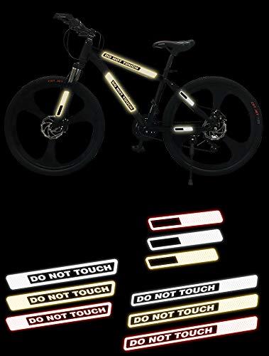 3M 反射 3M 自転車 オートバイ 電気自動車安全ステッカー 20枚 (ストライプ) 警告スティック フルセット サイクリング クールテープ 付箋 デカール 安全 衝突防止 イエロー TM0019