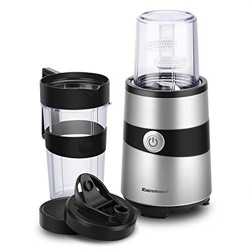 Excelvan ミキサー ジューサー ミル付き ブレンダー 1000W 毎分約18000回転 氷も砕けるハイパワー BPA フリーボトル採用 健康100%ジュース 栄養補給 離乳食作り 食生活を楽しめる