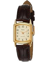 [シチズン キューアンドキュー]CITIZEN Q&Q 腕時計 Falcon ファルコン アナログ 革ベルト ゴールド QA69-103 レディース
