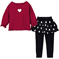 Avidqueen Adorable Toddler Baby Girls Clothes Set Long Sleeve T-Shirt Pants Outfit Fall Clothes