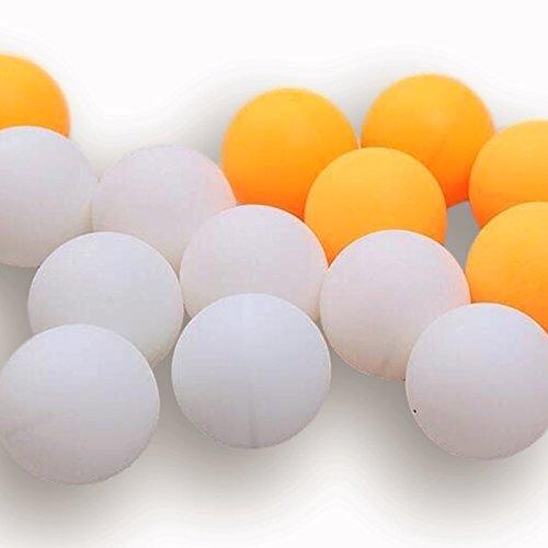 卓球ボール ピンポン玉 レジャー 練習 用 無地 ロゴ無し 12・24・48・100・150・200個 (レジャー用 オレンジ 100個)