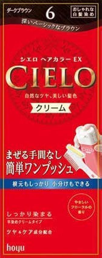 休日に辞書のぞき見シエロ ヘアカラー EX クリーム 6 ダークブラウン × 10個セット