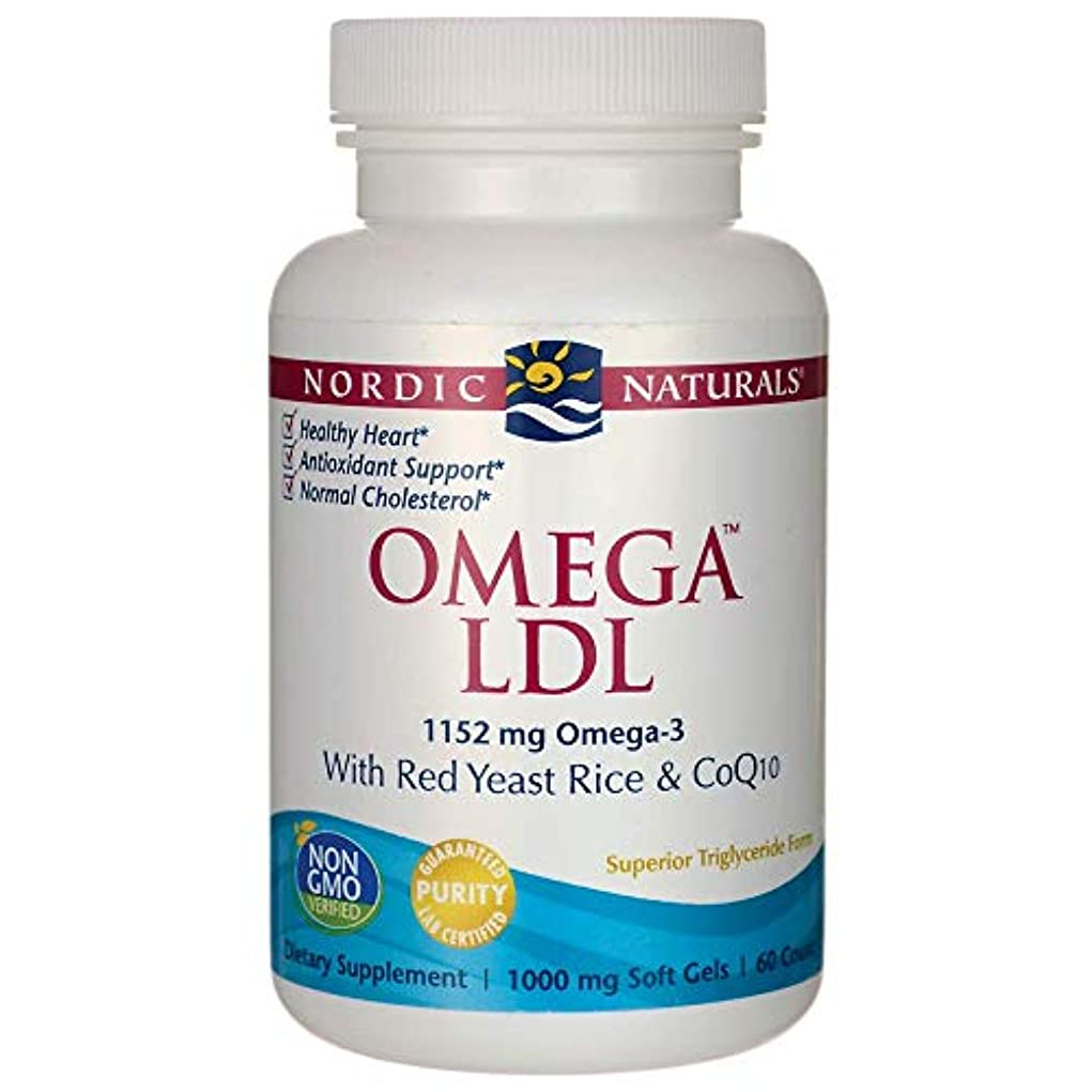 Nordic Naturals, Omega LDL, with Red Yeast Rice and CoQ10, 1000 mg, 60 Soft Gels