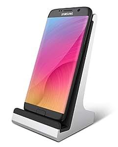 Bestand Qi ワイヤレス充電器 ワイヤレスチャージャードック ワイヤレス充電スタンド iPhone(Qiレシーバー必要)/Kyocera /Panasonic/Nexus/SHARP/富士通 /Samsung/ Nokia/MotorolaなどQiのAndroidスマホ対応 (シルバー)