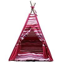 JEMA ジェマ ペット用テント 室内 犬 猫 ペットハウス クッション付き ピンク