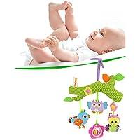 ancaixin小さいかわいい動物Plush Rattlesおもちゃfor赤ちゃん幼児ベビーカー装飾
