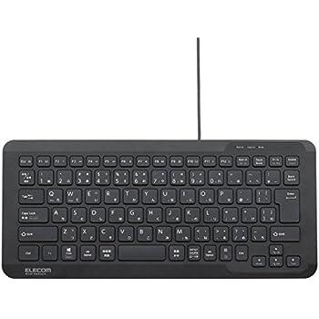 エレコム キーボード 有線 コンパクト Windows・Mac・iOS・Android対応 パンタグラフ式 ブラック TK-FCP082BK