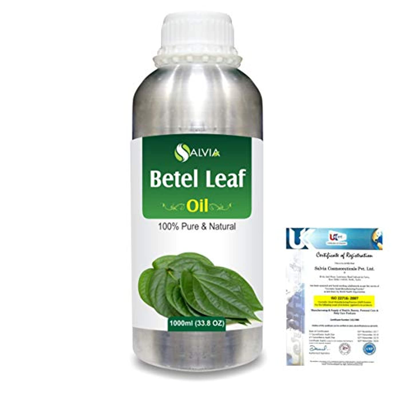 辛な費用適用済みBetel Leaf (Piper Betle) 100% Natural Pure Essential Oil 1000ml/33.8fl.oz.