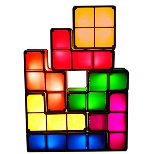 LEDライト テトリスライト アップグレード版 照明 おもちゃ 7色のブロック 組み立て自由 テトリス ブロック スポットライト デスクライト プレゼント ギフト 人気 インテリア DIY教育玩具 屋内家具装飾ライト