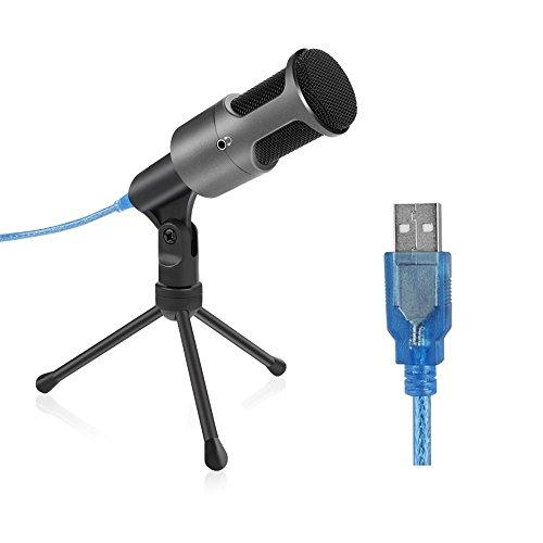 PC専用USBマイク ARCHEER 高音質 コンデンサーマイク・usbマイク・USB マイクロフォン プラグ&プレイ ダイレクトモニタリングが可能 Skype・YouTube録音・Google音声検索・ゲーム(Windows/Mac)用マイク