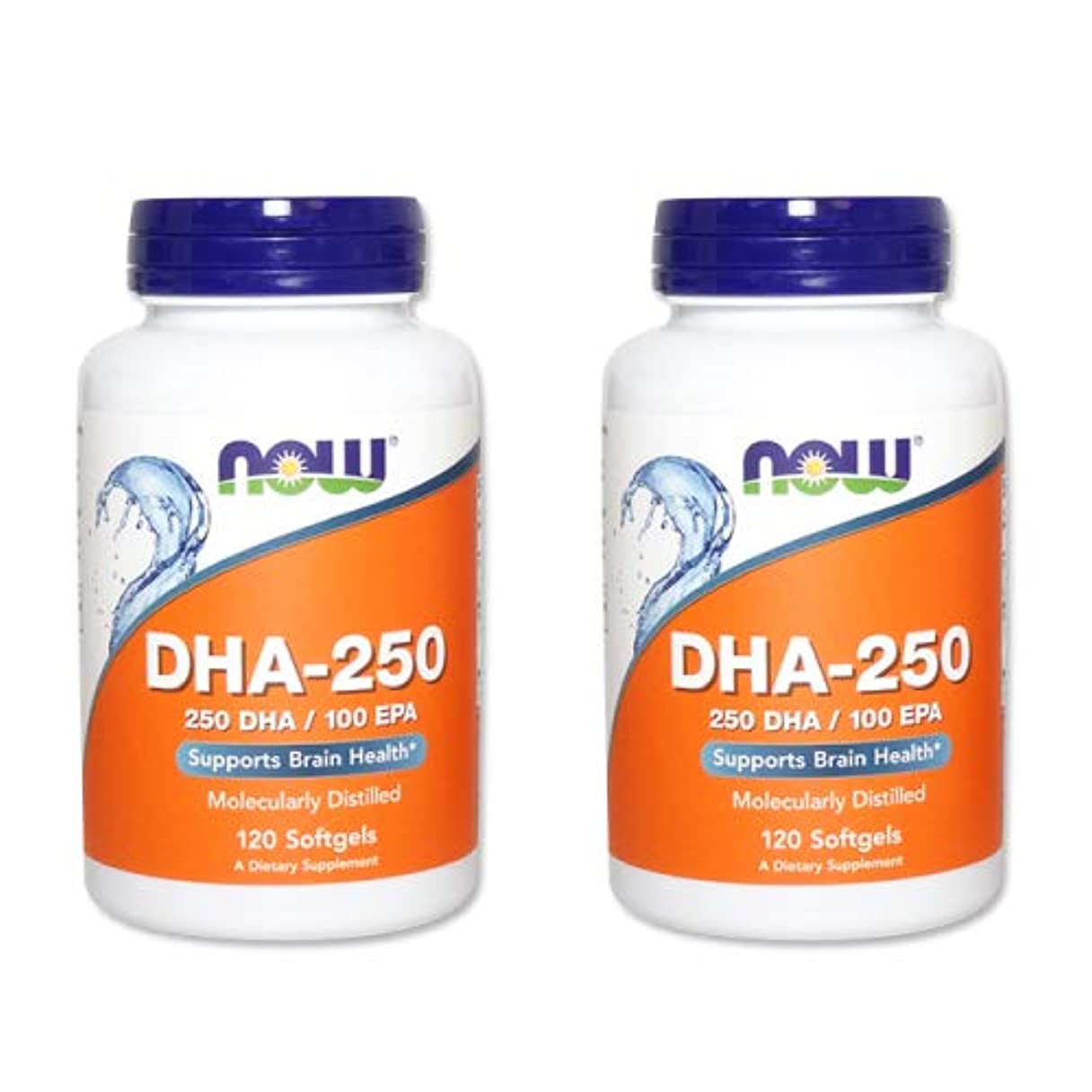 四分円盆地分数【2個セット】【粒小さめ低含有タイプ】DHA-250 120粒(DHA&EPA配合) [海外直送品]