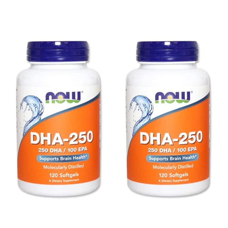 干ばつのヒープテスト【2個セット】【粒小さめ低含有タイプ】DHA-250 120粒(DHA&EPA配合) [海外直送品]