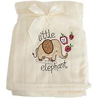 (スナグル?ベビー) Snuggle Baby 赤ちゃん?ベビー用 ゾウさん ベビーブランケット 毛布 ショール (100 × 75 cm) (クリーム/ブラウン/レッド)