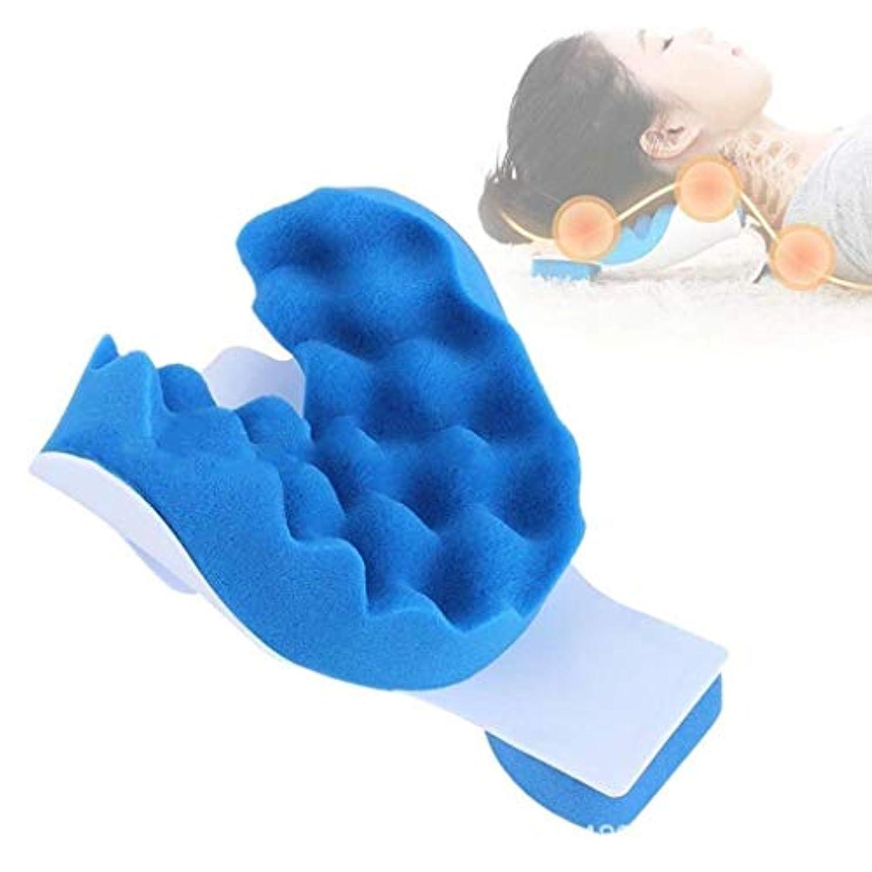 チャーム靴氏ネックマッサージャー、ネックケアピロー、緊張/痛みの緩和、ストレス緩和