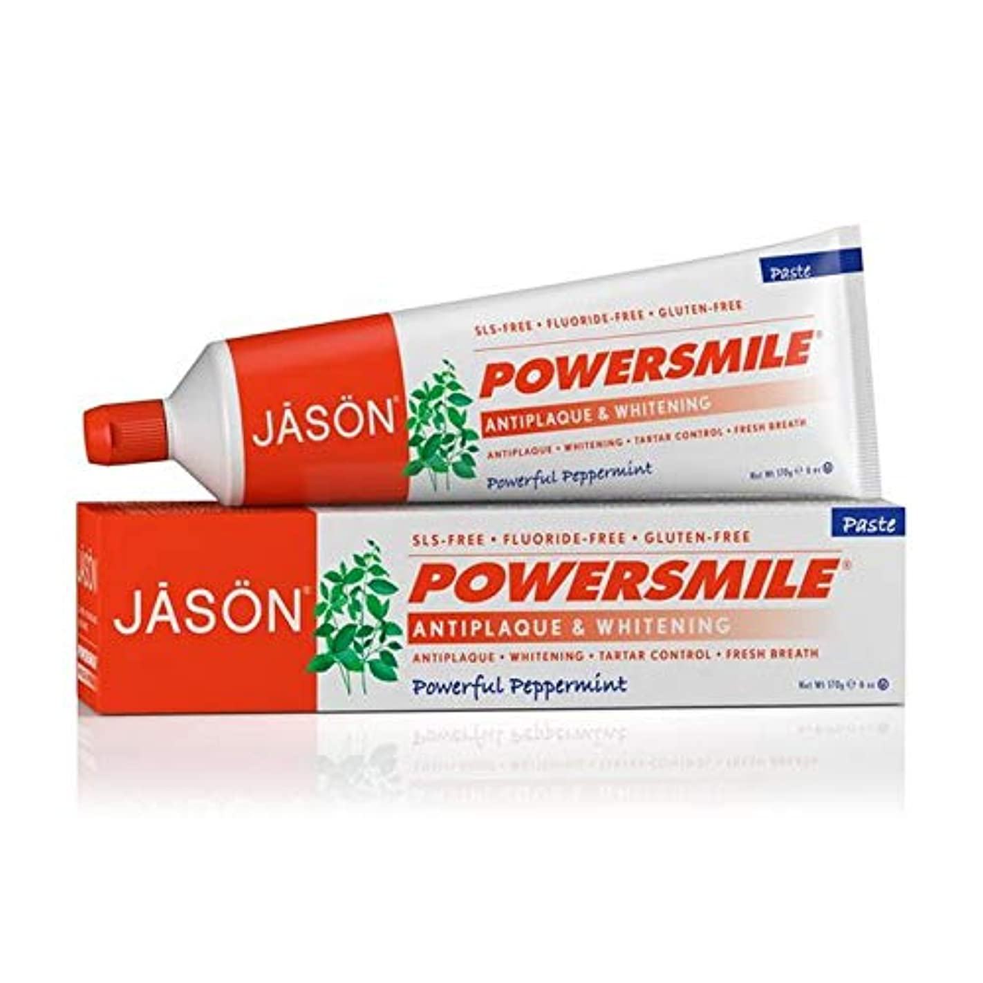 オーバーフロー黒人石鹸[Jason ] ジェイソンPowersmile歯磨き粉の170グラム - Jason Powersmile Toothpaste 170g [並行輸入品]