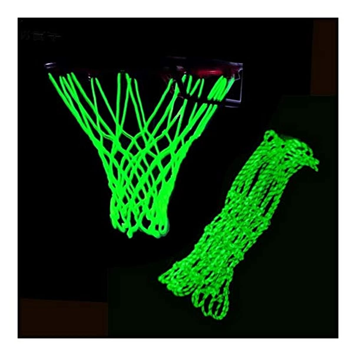 研磨剤気を散らすフライカイト美しくしっかり バスケットボールフープ交換用ネットは、暗い、屋外バスケットボールネット、ポータブルソーラースポーツナイロンバスケットボールネット、標準サイズ調節可能で光ります 耐久性のある (Color : A)