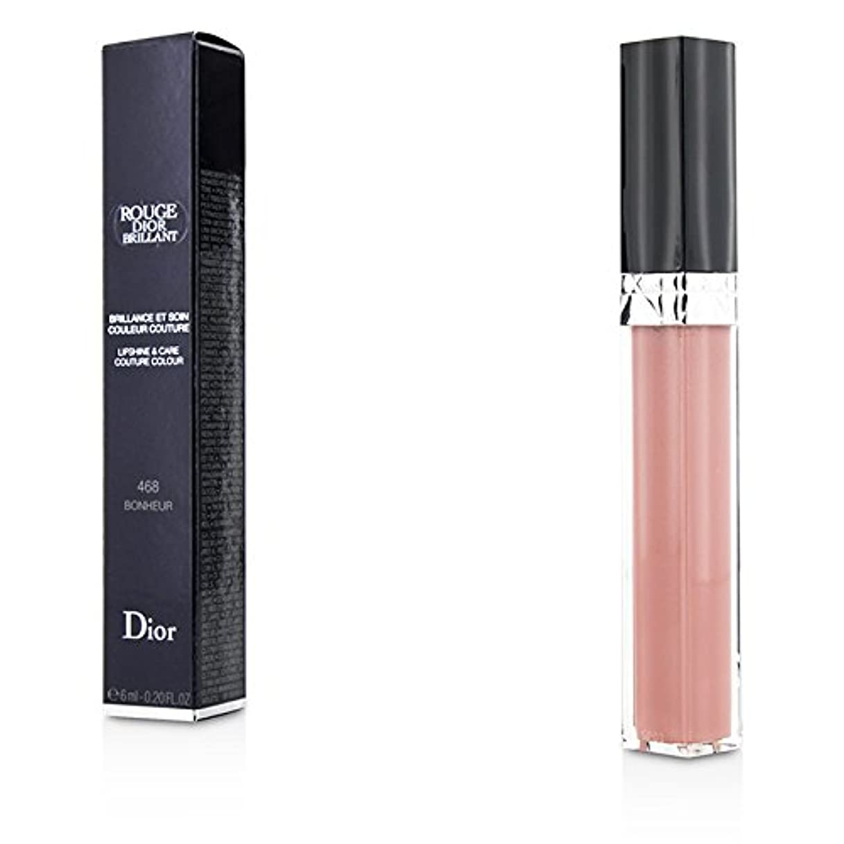 定刻ディレクター酔っ払いクリスチャンディオール Rouge Dior Brillant Lipgloss - # 468 Bonheur 6ml/0.2oz並行輸入品